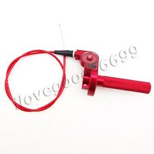Red CNC Twist Throttle Cable Assembly For Pitster Pro YCF GPX CRF Pit Dirt Bike