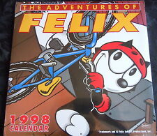 THE ADVENTURES OF FELIX the cat 1998 CALENDAR (New & Shrinkwrapped) COLLECTABLE