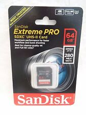 SanDisk Extreme PRO 64GB SDXC UHS-II SD Card New