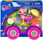 NEW Littlest Pet Shop Pink Kitty Cat Tricycle Ice Cream Set Pets on the Go #1846