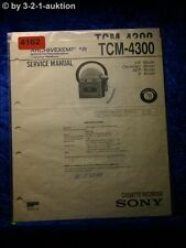 Sony Service Manual TCM 4300 Cassette Corder (#4162)