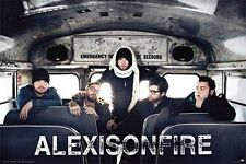 ALEX IS ON FIRE POSTER Alexisonfire Bus Group Shot