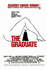 THE GRADUATE (1967) ORIGINAL MOVIE POSTER VIDEO 25TH ANNIVERSARY ROLLED