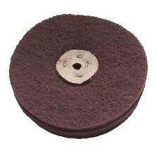 "6"" x  4 SECTIONS 1½"" SCOTCH BRITE / FIBRAL FINE GRADE LAP MOP WHEEL SATINISING"