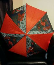 Children's Oficial Marvel Spiderman paraguas BNWT Hermosos Colores Brillantes