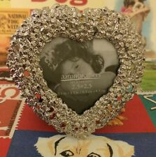 New Valentine's Day  2.5X2.5 PHOTO FRAME Flower Heart Silver Gift