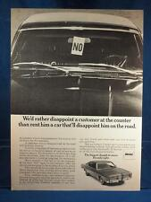 Vintage Magazine Ad Print Design Advertising Hertz Rental Cars