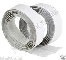 Self Adhesive 20mm Sticky Back Hook and Loop Tape Fastener White Velcro