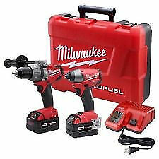 "New Milwaukee 2797-22 M18 FUEL Hammer Drill / Driver and 1/4""  Impact Combo Kit"