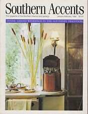 SOUTHERN ACCENTS MAGAZINE JANUARY/FEBRUARY 1996 *WEDDINGS IN SOUTHERN TRADITION*