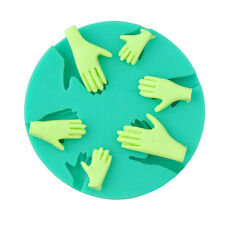 Newest 3D Human Hand Fondant Cake Decorating Silicone Mould Fimo DIY Mold Tools