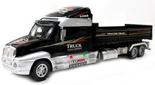 "20"" Remote Control RC Lifelike Semi Dump Truck Trailer Xmas Toy LED Black T2E"