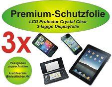 3x Premium-Schutzfolie 3-lagig Nokia Lumia 620 - blasenfrei - kristallklar
