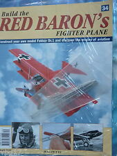 BUILD THE RED BARON'S FIGHTER PLANE FOKKER DR1  HACHETTE  ISSUE  34  NEW SEALED