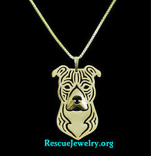 American Pit bull jewelry 18 inch chain gold plated
