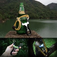 Steel Hunting Fishing Slingshot Catapult Outdoor Survival Shooting cold bend