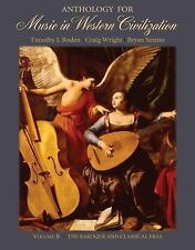 Anthology for Music in Western Civilization, Volume B: The Baroque and Classical
