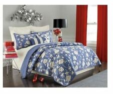 Kate Spade FLORAL 300 King Quilt Colony Blue / White - MSRP $500