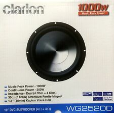 "NEW Clarion WG2520D 10"" WG Series Dual 4 Ohm Car Audio Subwoofer"