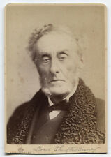 CABINET CARD A TIRED LOOKING LORD SHAFTESBURY, 7TH EARL. 1801-1885.