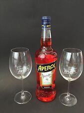 Aperol Aperitivo 1l Liter 15% Vol + 2 RASTAL Aperol Glas Gläser