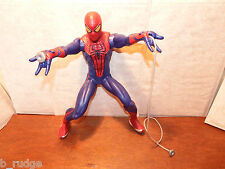 """RARE large 14"""" interactive Spider Man sounds Web Throwing action figure toy"""