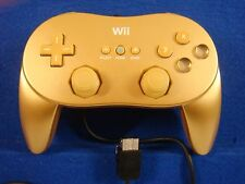 Wii CLASSIC CONTROLLER Official GOLD PRO Limited Edition Nintendo PAL