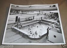 """SWIMMING POOL ABOARD PASSENGER SHIP, 1950's or 1960's, 8"""" by 10"""" ORIGINAL PHOTO"""