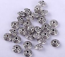 100pcs Fashion Antique Silver Tone Bicone Spacer Beads Findings 6.5mm HOT