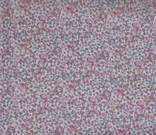 "LIBERTY ARTS FABRIC ""ELOUISE"" 60x136cm cotton tana lawn fabric PINKS"