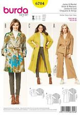 BURDA SEWING PATTERN Misses' & Plus Size Coats and Jackets SIZE 10 - 26  6704