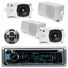 New KMRD356 Boat Yacht Radio USB iPod iPhone Receiver + KCARC35MR and 4 Speakers