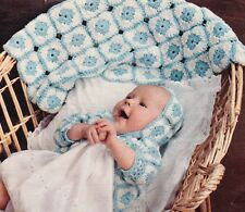 EASY GRANNY SQUARE / afghan,jacket & bonnet - COPY Baby crochet pattern