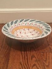 Vintage Brighton Pavillion Mackenzie Childs Pottery Large Bowl Serving Excellent