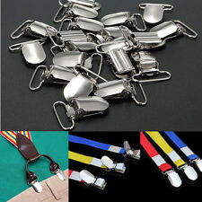 30Pcs Baby Metal Holder Insert Pacifier Silver Tone Suspender Clips Mitten 33*23