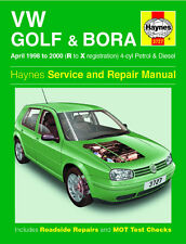 Haynes VW Volkswagon Golf Bora Repair Manual 1998 1999 2000 Petrol Diesel R - X