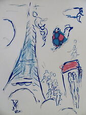 CHAGALL - THREE LITHOGRAPHS PARIS OPERA - 1964 -  FREE SHIPPING IN THE US !!!