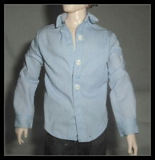 TOP  MATTEL KEN DOLL MODEL MUSE TWILIGHT EDWARD BLUE STRIPE SHIRT CLOTHING ITEM