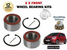 FOR NISSAN NOTE 1.2 1.5 DCI + TURBO 2013--  NEW 2 X FRONT WHEEL BEARING KITS