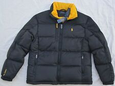 New Small POLO RALPH LAUREN Mens puffer down winter ski jacket Black coat puffa