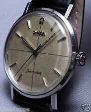 BEAUTIFUL OMEGA SEAMASTER W/BLACK CROSSHAIRS ON LINEN DIAL - LOOK AT THIS ONE!!