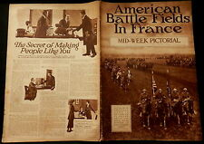 NEW YORK TIMES Mid-Week Pictorial June 26, 1919 AMERICAN BATTLEFIELDS in FRANCE