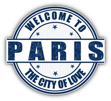 "Paris City France Travel Stamp Car Bumper Sticker Decal 5"" x 5"""
