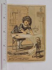Frank Miller's Crown Dressing For Shoes Lovely Girl Sewing Doll Watching F57