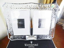 "Waterford Crystal LISMORE Double Photo Picture Frame 4 x 6"" - NEW / BOX!"