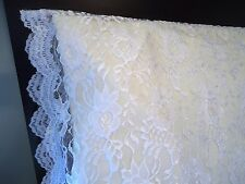 King ORGANZA LACE Pillowcase Sham Daytime Cover WHITE by UtaLace NEW
