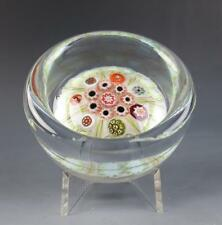 Vintage Vasart or Strathearn Millefiori Paperweight Pin Dish Scottish Art Glass