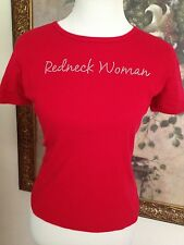 """Haines """"Redneck Woman"""" Red T-Shirt Size M, short sleeve, 100% bcotton."""