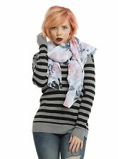 DC Comics Suicide Squad Harley Quinn Scarf Tattoo Doodle Print Sheer Scarf NWT