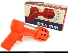 Bee-Vo Bell Gun plastic space pistol with marble RINGS a bell Beaver Toys USA